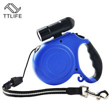 Retractable Dog Leash With Led Flashlight Detachable Pet 9 Durable And Light New