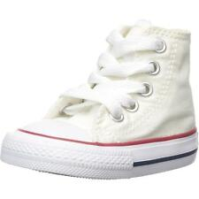 Converse Chuck Taylor All Star Hi Optical White Textile Baby Trainers Shoes