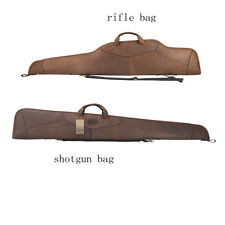 Tourbon Rifle/Shotgun Case Gun Slip Bag Scope Cover Genuine Leather Hunt Vintage