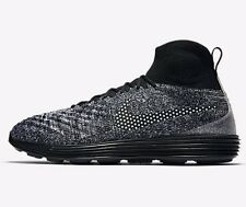 Nike LUNAR MAGISTA II FLYKNIT FC MEN'S SHOES,BLACK/WHITE-Size US 10.5,11 Or 11.5