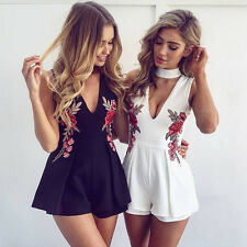 Elegant Short Dress Lady Women Floral Deep V Neck Casual Summer Fashion Trend