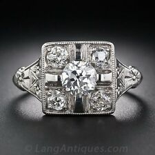 2.2CT White Topaz 925 Silver Women Jewelry Ring Wedding Engagement Size 6-10