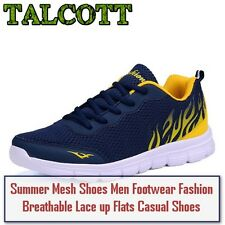 Summer Mesh Shoes Men Footwear Fashion Breathable Lace up Flats Casual Shoes