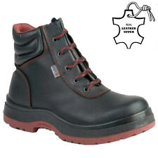 LADIES LEATHER STEEL TOE CAP SAFETY WORK ANKLE HIKER TRAINERS SHOES BOOTS SIZE