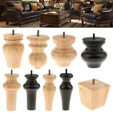 4PCS Solid Wooden Furniture Replacement Leg Sofa Chair Table Couch Legs Feet