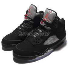 Nike Air Jordan 5 Retro OG V Black Metallic Silver New 2016 Men AJ5 845035-003