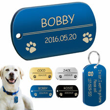 Military Dog Tags Stainless Steel Personalized Army Pet Tags High Quality 2 Size