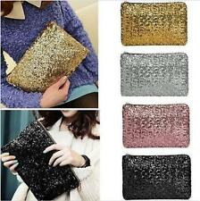 Womens Lady Sparkling Sequins Clutch Evening Party Bag Handbag Tote Purse Gift
