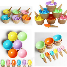 1Pcs Eco-Friendly Ice Cream Kids Bowl With Spoon Container Cup Couples Dessert