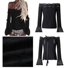 T-shirt Women Long-sleeved Sexy Tight-fitting Bottoming Lace Cotton Shirt Summer