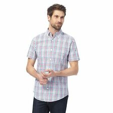 Maine New England Mens Big And Tall Multi-Coloured Checked Tailored Fit Shirt