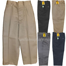 School Uniform Pants Boys Flat front / Back elastic Uniforms Pant Regular, Husky