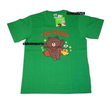 Uniqlo x LINE FRIENDS Graphic T-Shirt Green Men's Tee Japan-Size M Brown Sally