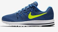 Nike AIR ZOOM VOMERO-12 MEN'S RUNNING SHOES,BLUE/VOLT- Size US 8.5, 9, 9.5 Or 10