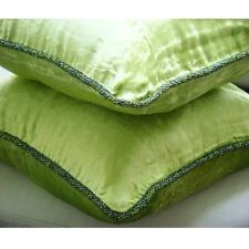 Solid Color 35x35 cm Velvet Lime Green Cushion Covers - Green Lime