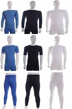MENS THERMAL UNDERWEAR LONG & SHORT SLEEVE VEST TOP & LONG JOHNS ALL SIZES