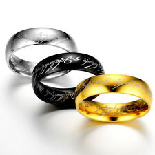 1pc Unisex Lord of the Rings The One Ring Titanium Steel Fashion Ring Size 6-12