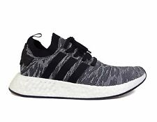 Adidas Men's ORIGINALS NMD R2 PRIMEKNIT Running Shoes Core Black/White BY9409 b