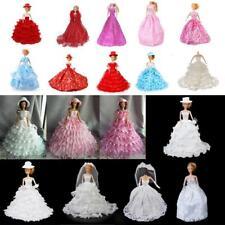 Comfortable Fabric Dolls Floral Evening Dress for Barbie Party/Wedding Outfit