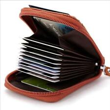 Portable Mini Real Leather Unisex Wallet Credit Cards Holder Organizer Purse