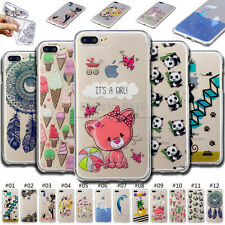 For Apple iPhone Fashion TPU Rubber Skin Soft Shell Cute Clear Case Cover Back
