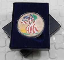 2000 BU American Silver Eagle 1oz 999 Fine Colorized Coin w/ Case CB009