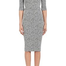 VICTORIA BECKHAM WOMENS COTTON-BLEND BELTED SHEATH DRESS