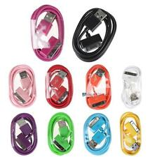 10 Colours 1M USB Data Sync Charger Cable Cord For Apple iPhone 4 4S 3G 3GS AO