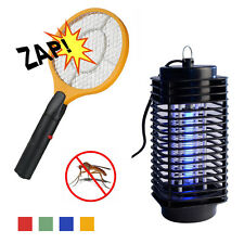 UK Electric Fly Insect Swatter Swat Bug Mosquito Wasp Zapper Killer UV Lamp