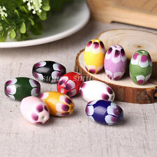 5pcs Chic Lovely Oval Charm Ceramic Loose Spacer Beads Necklace Bracelet Making