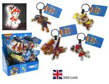 Official PAW PATROL LED TORCH  KEYCHAIN Light Up LED Key Rings Birthday Gift 7cm