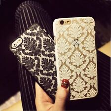 LACE DAMASK MATT BACK HARD CASE COVER FOR IPHONE 7 6S 6 & PLUS SE 5S 5