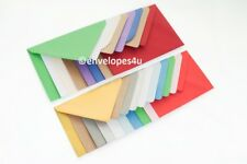 10 High Quality Coloured C6 114x162mm Envelopes for A6 Cards 100gsm FREE UK P&P