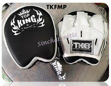 TOP KING FOCUS MITTS PADS TKFMP BLACK  WHITE FREE SIZE  TRAINING SPARRING MMA K1