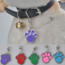Personalised Round Paw Dog Pet ID Tags Disc Dog tag or Cat tag Engraved Free