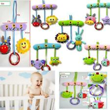 Soft Plush Baby Animal Rattles Bed Stroller Car Hanging Teether Ring Play Toys