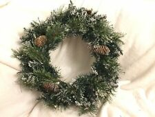 Pre-Lit LED Lights Wreath Frosted Christmas Tree Hanging Decorations Bundle