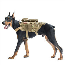 Service Dog Vest Harness Patch Tactical K9 Hunting Training Molle Bag All Season