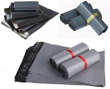 """5 to 50 BAGS 9"""" x 12"""" STRONG POLY MAILING POSTAGE POSTAL QUALITY SELF SEAL GREY"""