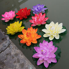 New Artificial Fake Lotus Water lily Floating Flower Garden Pool Plant Ornament