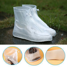 Reusable Waterproof Rain Shoes Cover Boots Flat Overshoes Slip Resistant Useful
