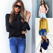 Long Sleeve T-Shirt Casual Loose Tops Fashion Women Ladies Soild Blouse