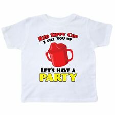 Inktastic Red Sippy Cup Toddler T-Shirt Toby Keith Funny Baby Humor Laughs Tees.