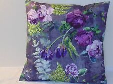 Designers Guild  floral 100% Cotton Fabric Tulipai Amethyst Cushion Cover