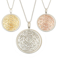 14K Gold, Rose Gold, or Rhodium Plated Silver Flower Crystal Pendant Necklace