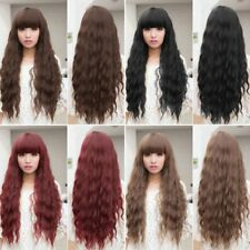 Beauty Fashion Womens Lady Long Curly Wavy Hair Full Wigs Cosplay Party SU