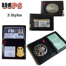 Avengers Agents of S.H.L.E.L.D Wallet Badge/Holder/ID FBI X-files Badge Folder