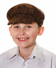 CHILDREN FLAT CAP TUDOR VICTORIAN CHIMNEY SWEEPER EVACUEE FANCY DRESS HAT