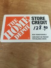 Home Depot 128.90 Store Credit