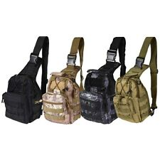 Tactical Shoulder Bag Military Pack Molle Hiking Sling Outdoor Chest Camping Kit